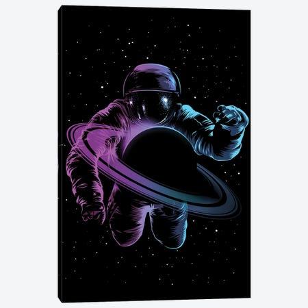 Astronaut Saturn Canvas Print #APZ118} by Alberto Perez Canvas Art Print