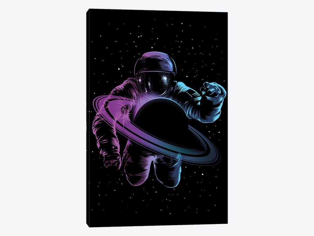 Astronaut Saturn by Alberto Perez 1-piece Canvas Art Print