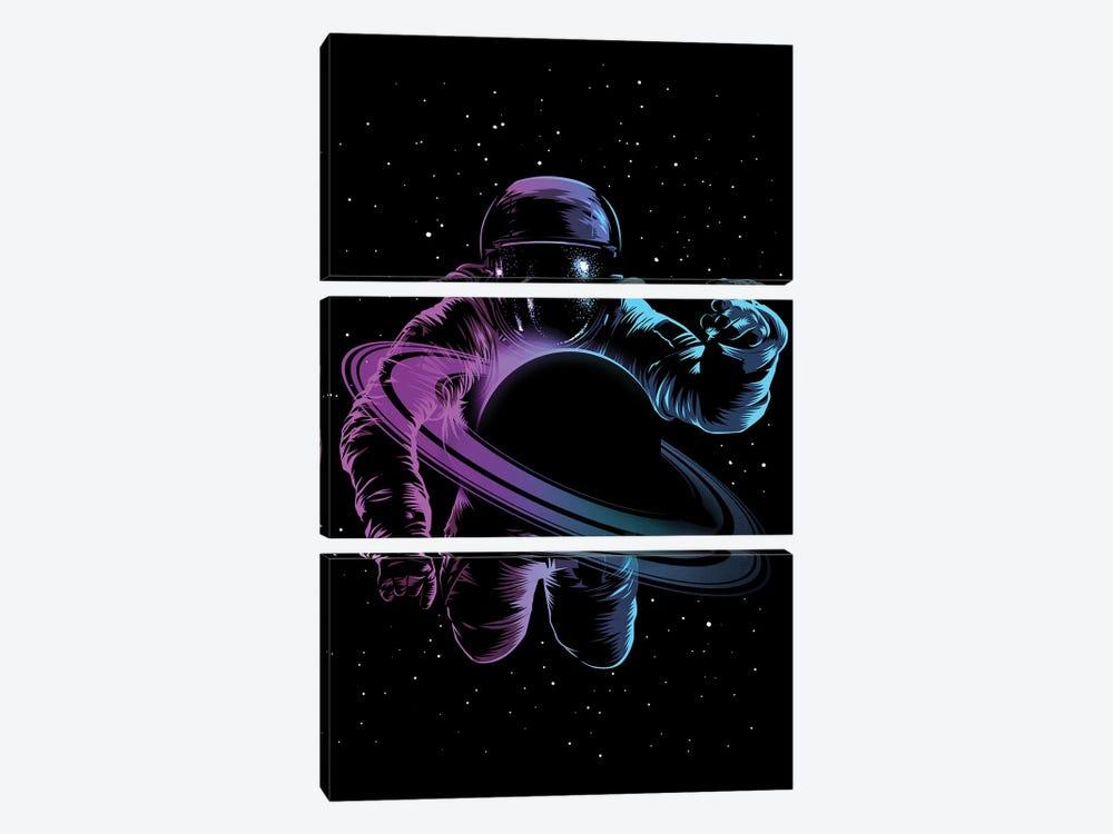 Astronaut Saturn by Alberto Perez 3-piece Canvas Art Print