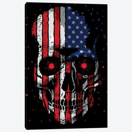 American Skull Canvas Print #APZ119} by Alberto Perez Canvas Art Print