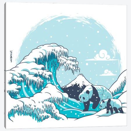 Polar Wave Panda Canvas Print #APZ120} by Alberto Perez Canvas Artwork