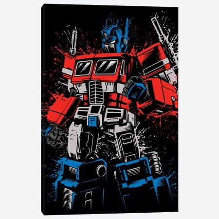Splatter Optimus Canvas Print #APZ129} by Alberto Perez Canvas Wall Art