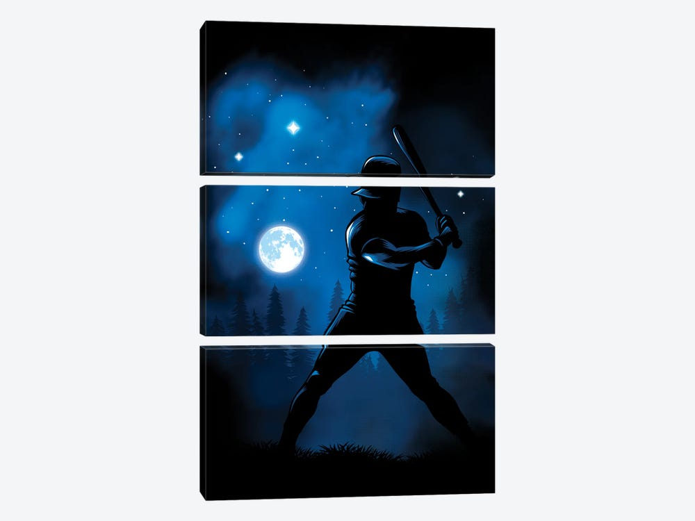 Beating The Moon by Alberto Perez 3-piece Canvas Art