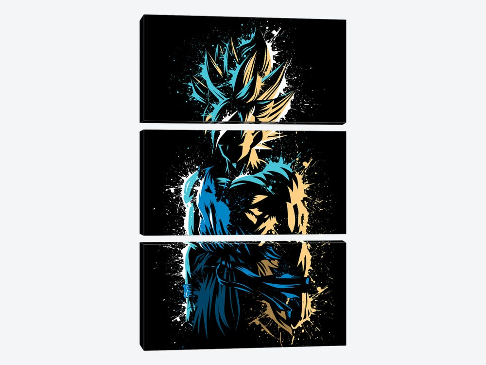 Super Splatter by Alberto Perez 3-piece Canvas Art Print