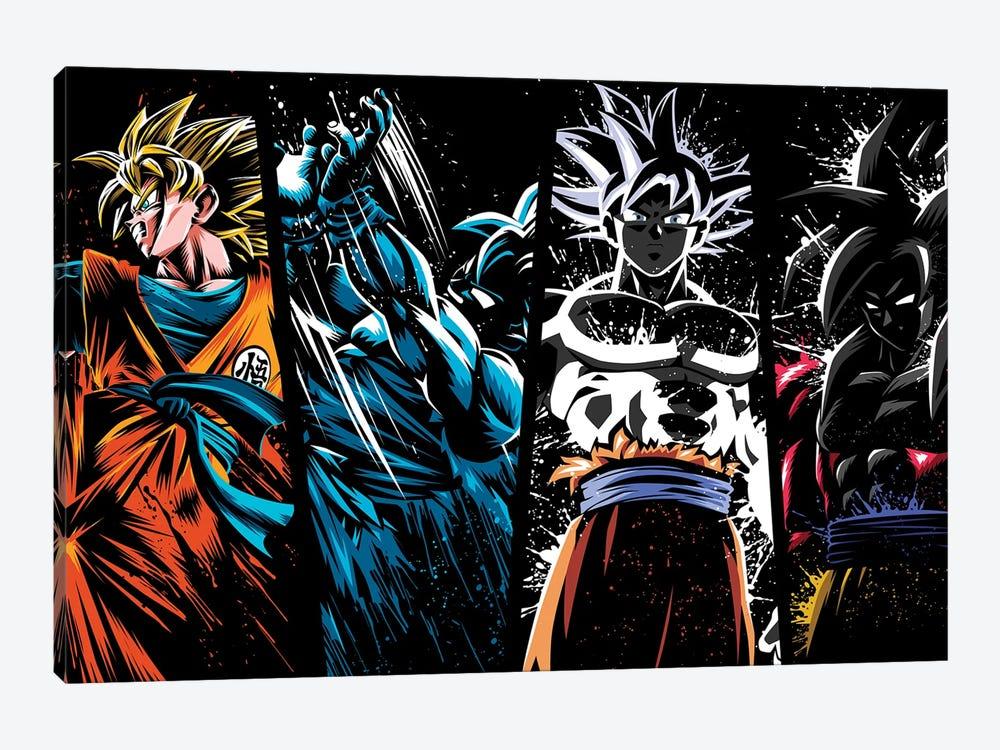 Splatter levels by Alberto Perez 1-piece Canvas Wall Art