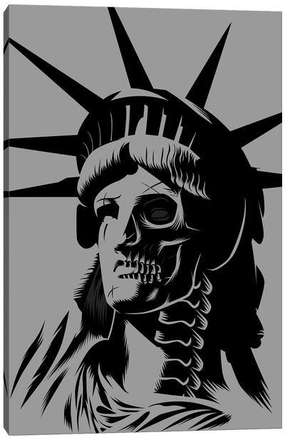 Statue Skull Canvas Art Print