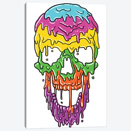 Liquid Skull Canvas Print #APZ139} by Alberto Perez Art Print