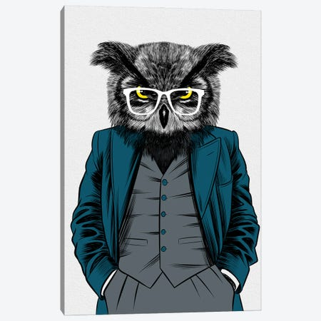 Teacher Owl Canvas Print #APZ149} by Alberto Perez Canvas Artwork