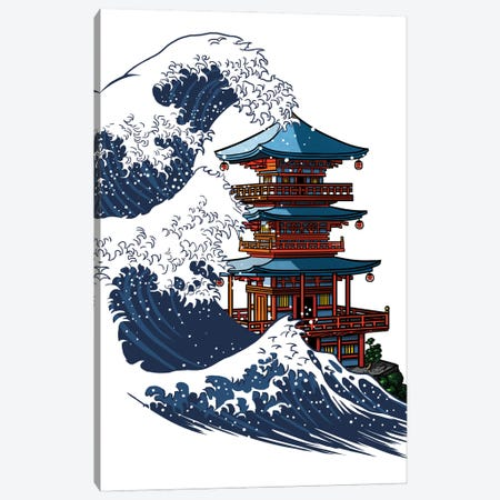 Wave temple Canvas Print #APZ151} by Alberto Perez Canvas Print