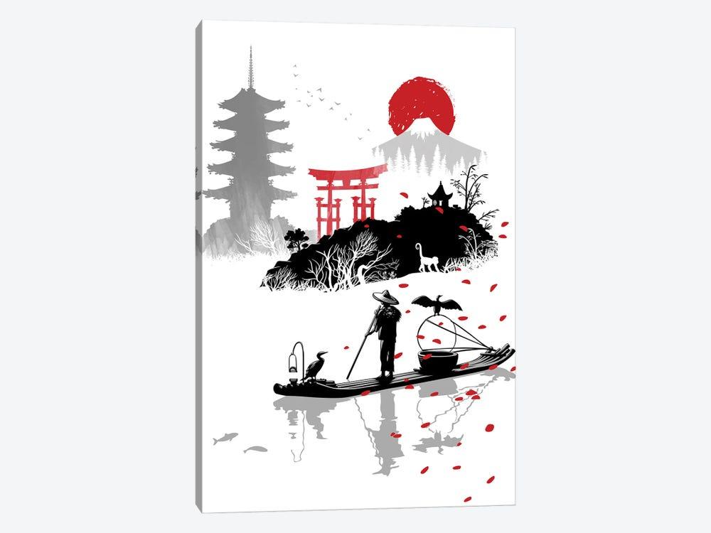fisherman in japan by Alberto Perez 1-piece Canvas Print