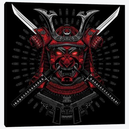 Red Samurai Canvas Print #APZ163} by Alberto Perez Canvas Art