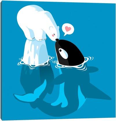 Polar and Killer Whale Canvas Art Print