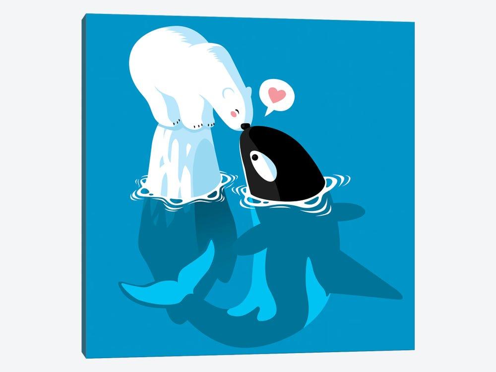 Polar and Killer Whale by Alberto Perez 1-piece Canvas Wall Art