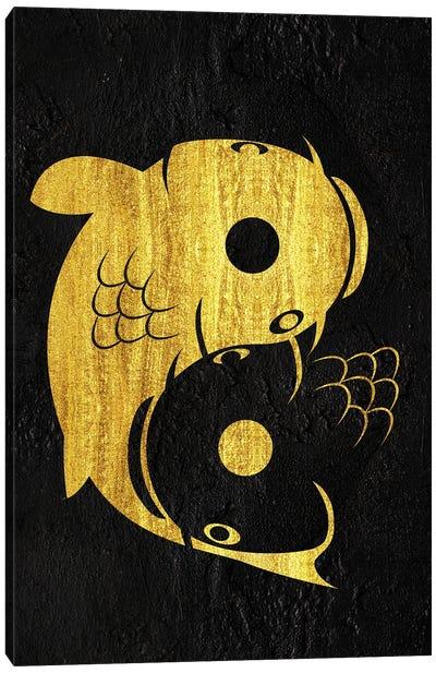 Yin Yang Carp Canvas Art Print