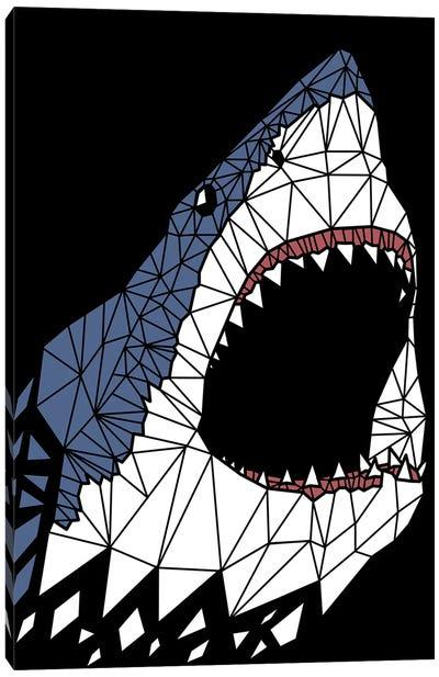 Geometric Great Shark Canvas Art Print