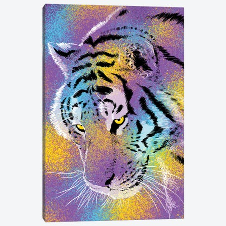 Tiger Colorful Canvas Print #APZ170} by Alberto Perez Canvas Art Print