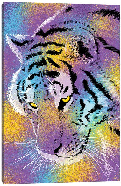 Tiger Colorful Canvas Art Print