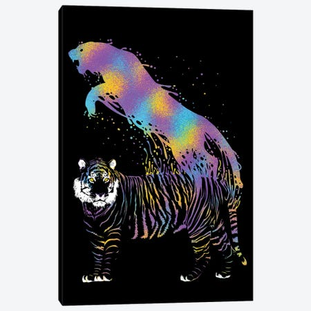 Tiger Ink Colorful Canvas Print #APZ174} by Alberto Perez Canvas Artwork