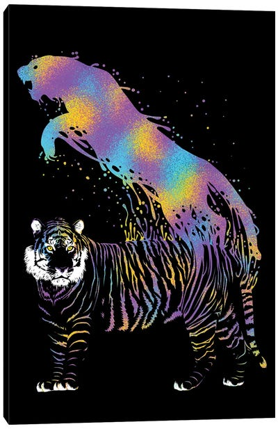 Tiger Ink Colorful Canvas Art Print