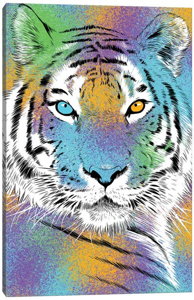 Sketch Tiger Colorful Canvas Art Print