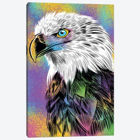Sketch Eagle Colorful Canvas Print #APZ180} by Alberto Perez Canvas Wall Art