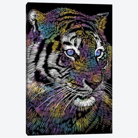 Realistic Tiger Colorful Canvas Print #APZ183} by Alberto Perez Canvas Artwork