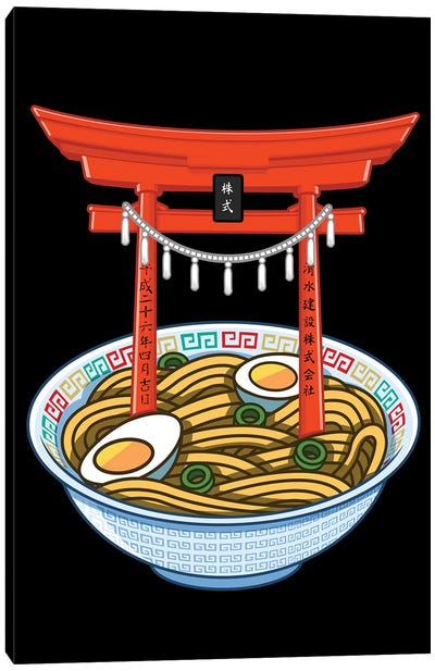 Ramen Torii Canvas Art Print