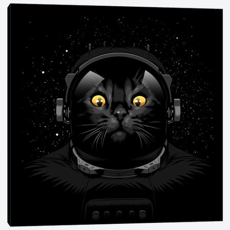 Cat Astronaut Canvas Print #APZ18} by Alberto Perez Canvas Print