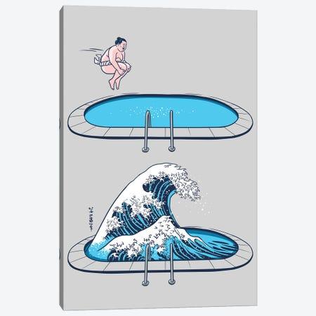 Sumo Wave Canvas Print #APZ190} by Alberto Perez Canvas Print