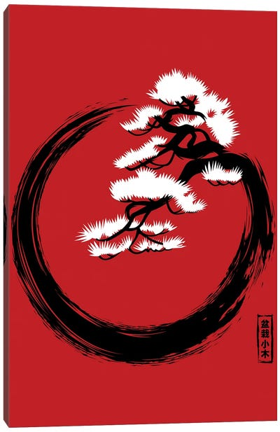 Circle Bonsai Canvas Art Print