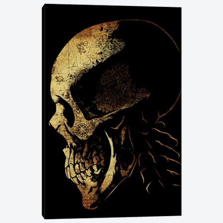Skull Pirate Map Canvas Print #APZ193} by Alberto Perez Canvas Print