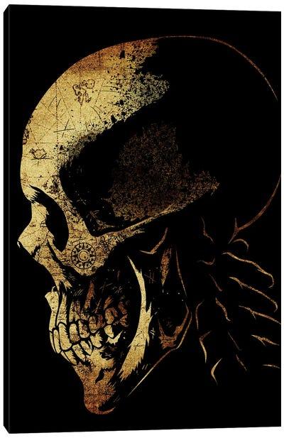 Skull Pirate Map Canvas Art Print
