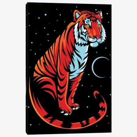 Tribal Tiger Long Tale Canvas Print #APZ198} by Alberto Perez Canvas Print