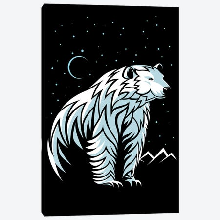 Tribal Polar Bear Canvas Print #APZ200} by Alberto Perez Art Print