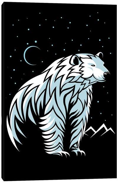 Tribal Polar Bear Canvas Art Print