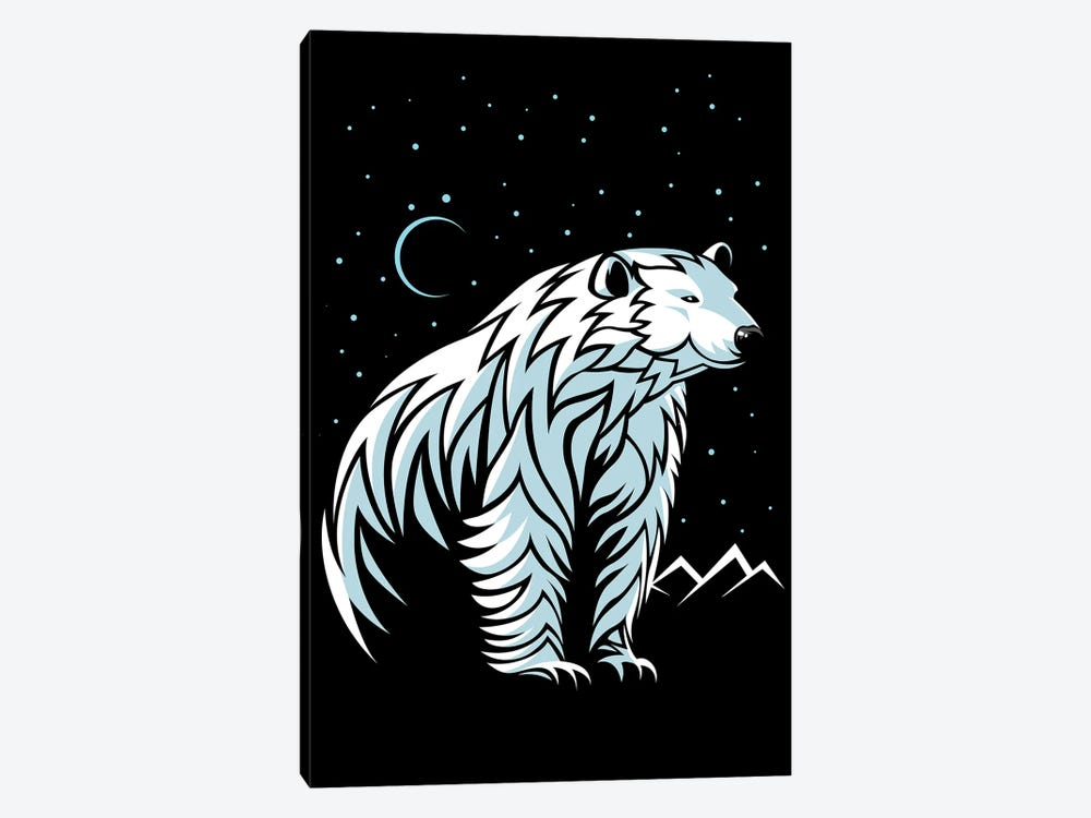 Tribal Polar Bear by Alberto Perez 1-piece Canvas Artwork