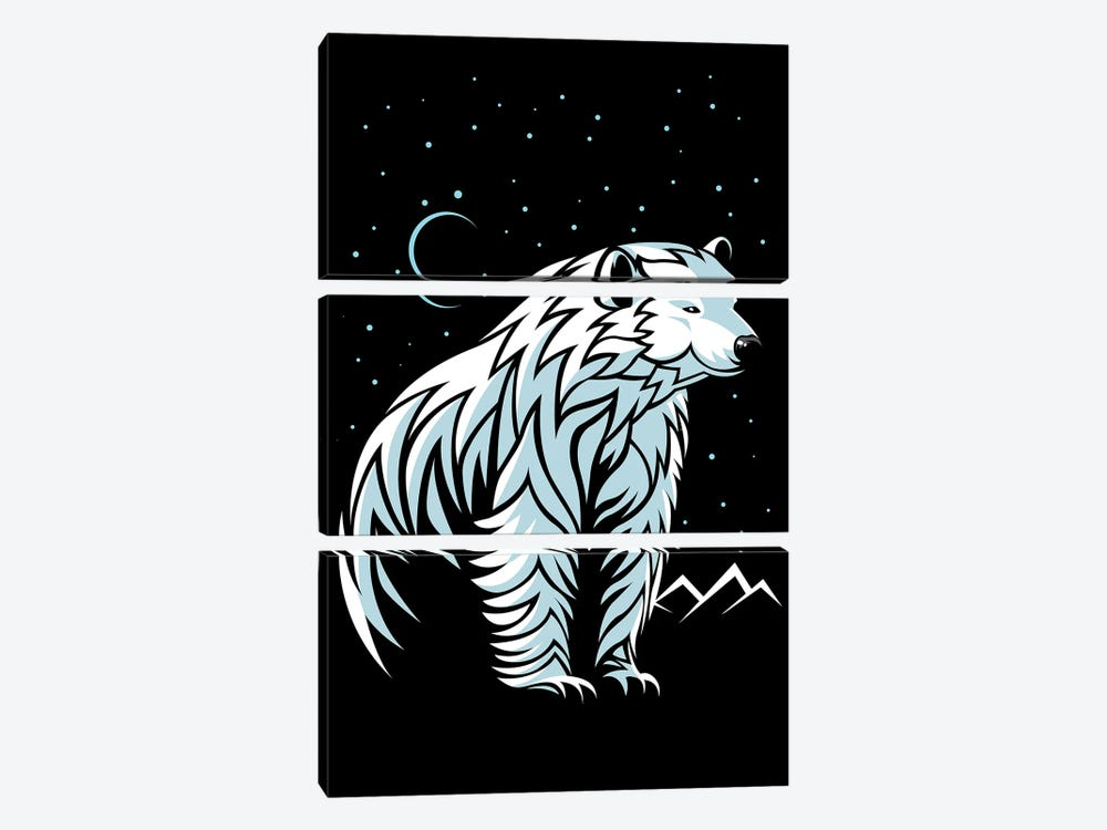 Tribal Polar Bear by Alberto Perez 3-piece Canvas Artwork