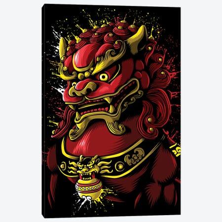 Chinese Blood Dragon Canvas Print #APZ20} by Alberto Perez Canvas Wall Art