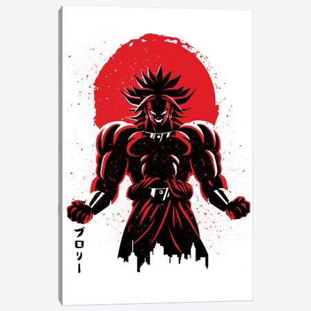 Legendary Warrior Red Sun Canvas Print #APZ220} by Alberto Perez Art Print