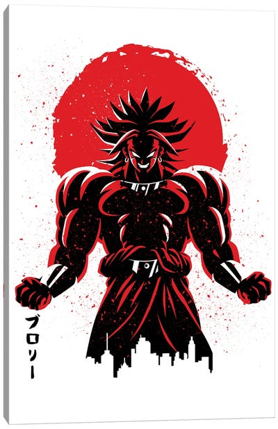 Legendary Warrior Red Sun Canvas Art Print