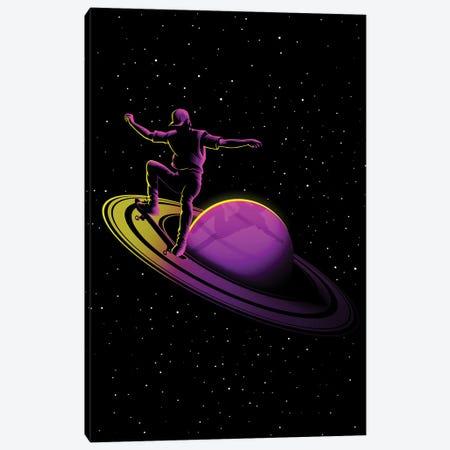 Retro Skate Saturn Canvas Print #APZ223} by Alberto Perez Art Print