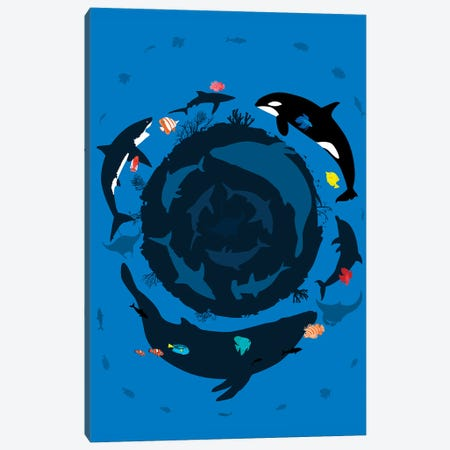 Circle Ocean Summer Canvas Print #APZ227} by Alberto Perez Canvas Wall Art
