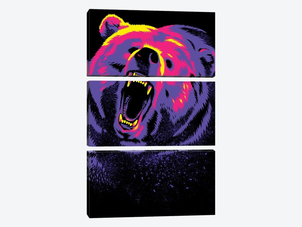 Purple Grizzly by Alberto Perez 3-piece Art Print