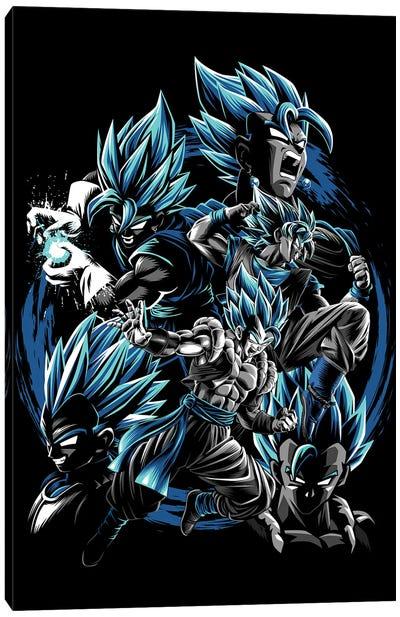 Blue Fusions Canvas Art Print