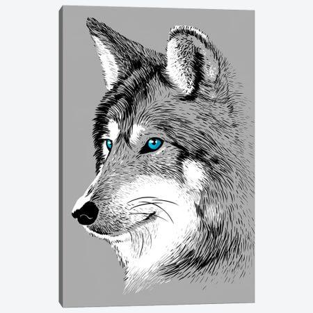 Sketch Wolf Canvas Print #APZ239} by Alberto Perez Canvas Artwork