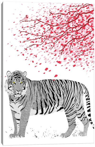 Cherrytree Tiger Canvas Art Print