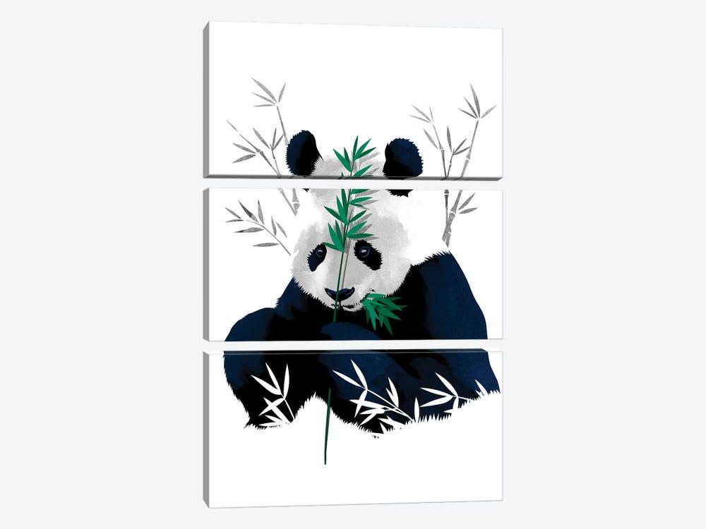 Bambo Panda by Alberto Perez 3-piece Art Print