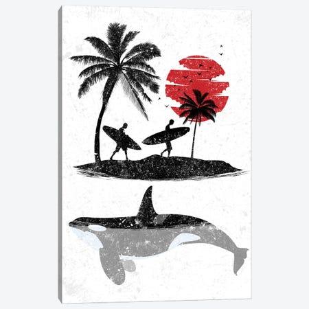 Island Surf Killer Whale Canvas Print #APZ248} by Alberto Perez Art Print