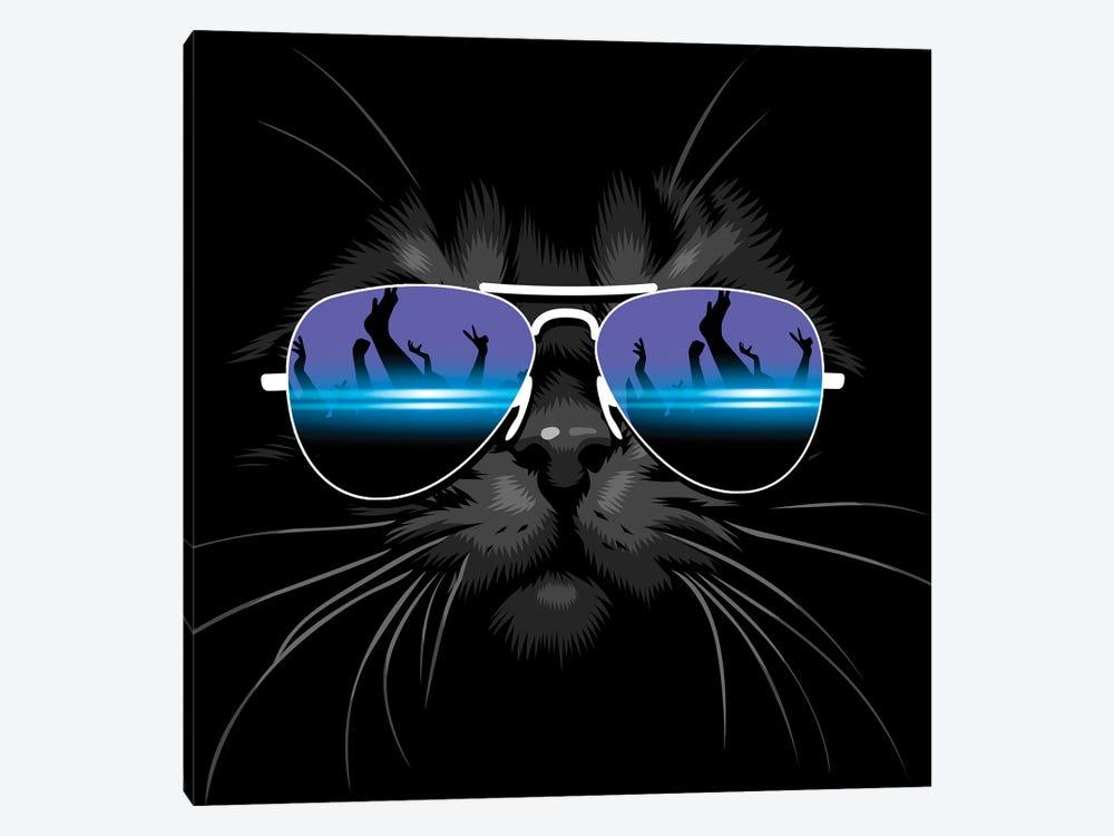 Techno Cat by Alberto Perez 1-piece Art Print
