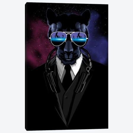 Techno Panther Canvas Print #APZ27} by Alberto Perez Art Print
